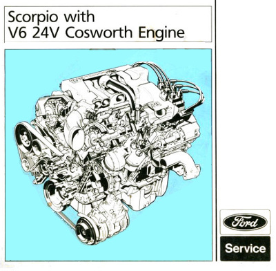 Ford Scorpio Cosworth BOA v6 24v service manual pdf