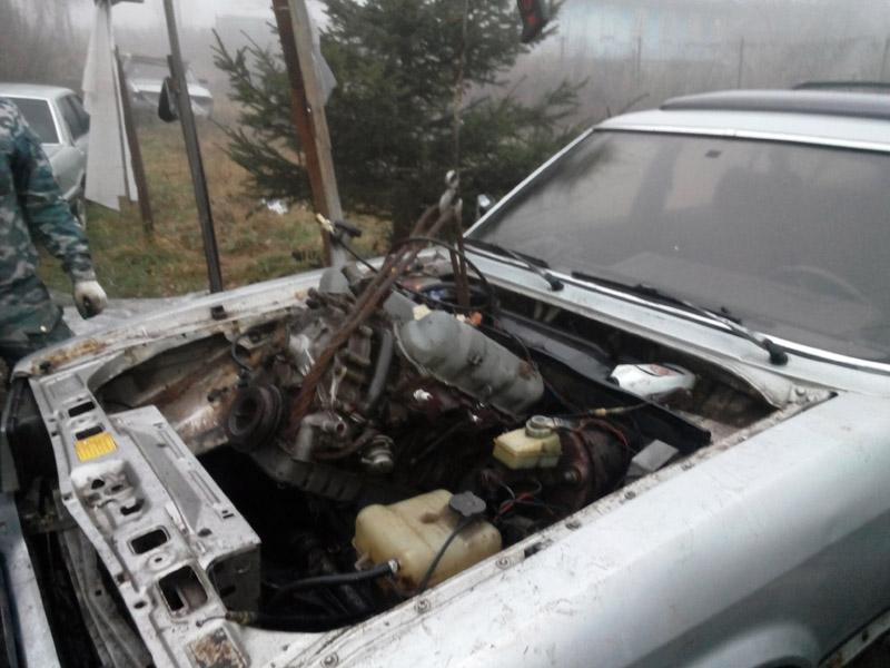 установка ford granada двигатель вместе с коробкой