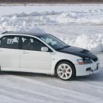 эво боком lancer evolution ix ледовые гонки