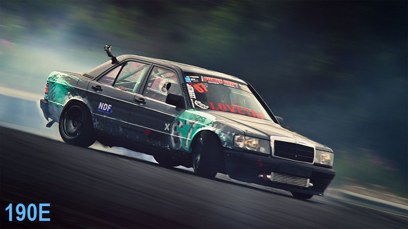 190e drifting